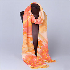 180cm*90cm Silk georgette long scarf