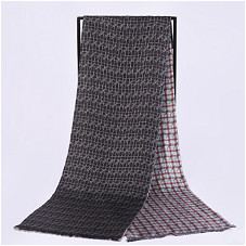 200cm*28cm Men's Scarf Double-layer Silk Twill